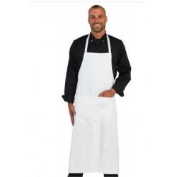 Tablier coton sans bavette blanc