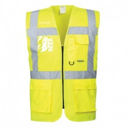 gilet de visualisation S476 jaune multipoches