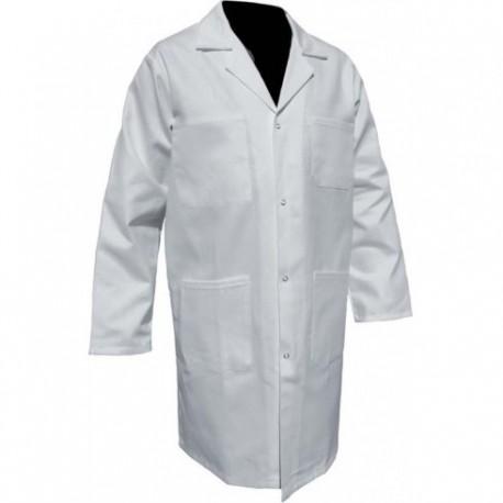 blouse homme coton blanc pressions